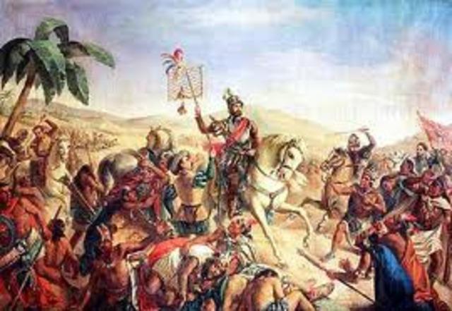 La llegada de Pedro de Alvarado a Guatemala