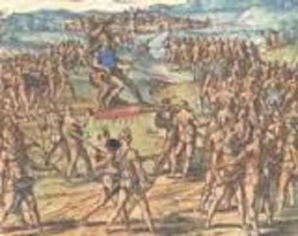 Final del poder precolombino maya.