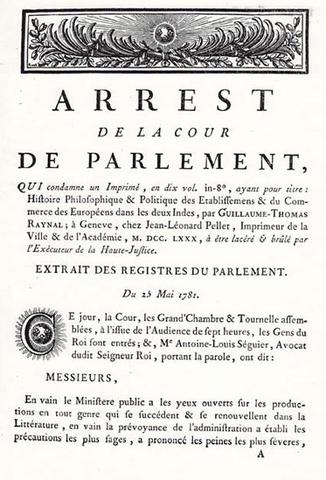 Décret - Parlement de Paris
