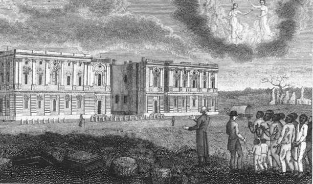 Washington D.C attacked and burned.