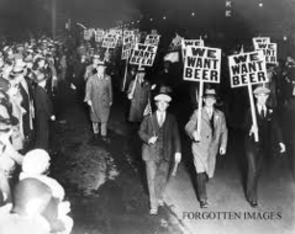 Beginning of the Prohibition Act