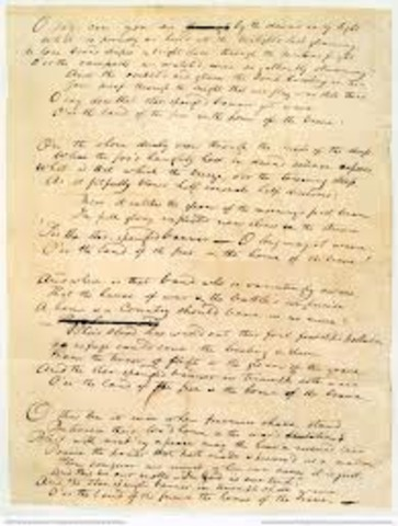 Writing the Star Spangled Banner