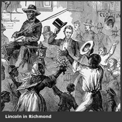 President Lincoln tours the Confederate Capital