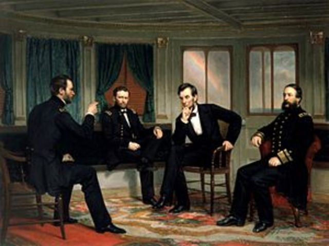 Lincoln Confers With Rebel Leaders on River Queen