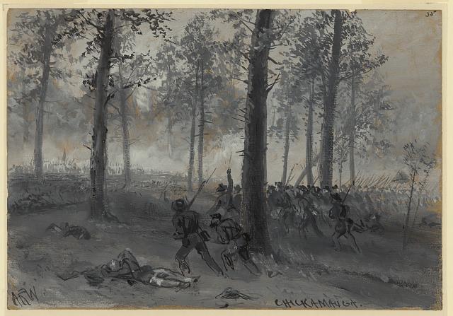 Confederates win savage battle at Chickamauga