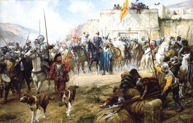 Francisco Pizarro y Diego de Almagro conquistan el Perú de los Incas, desde la meseta de Quito hasta el desierto de Atacama.