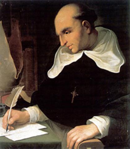 Fray Bartolomé de las Casas (1484-1566) redacta su Brevísima relación de la destrucción de las Indias.