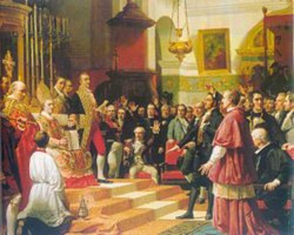 Las Cortes fueron reunidas en Cádiz