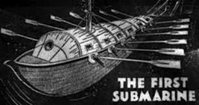 Submarine invented by Cornelis Drebbel