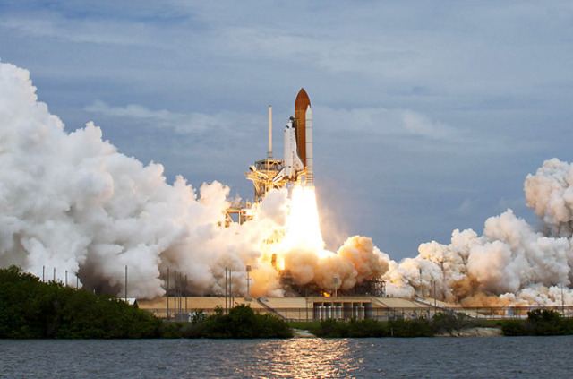 Space Shttle Launched from Cape Canaveral