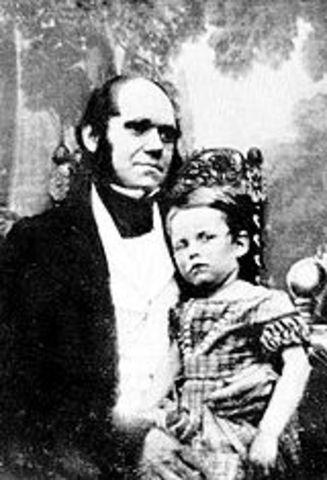 Nació su primer hijo William Erasmus Darwin,