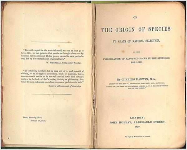 """Publica """"El origen de las especies"""" ."""