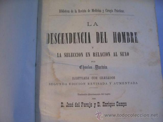 """Publica """"La ascendencia del hombre""""."""