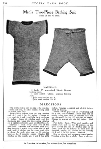 The first competitive swim suit