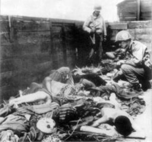 Jews in the Lódz ghetto are deported to the killing center at Chelmno.