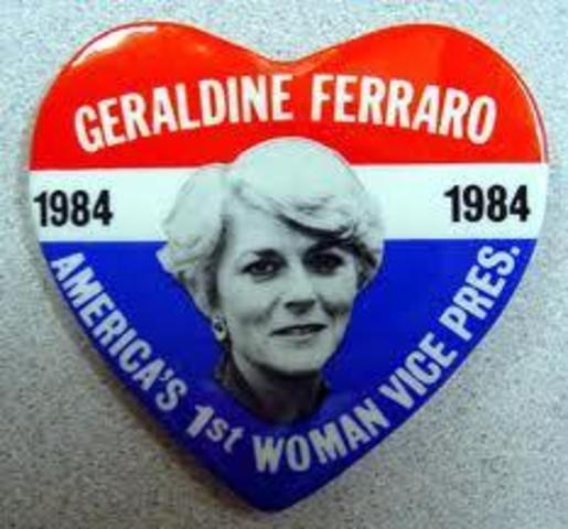 First female vice presidential candidate