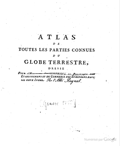 Parution de l'Atlas de l'Histoire Philosophique