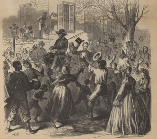 President Lincoln Tours the Rebel Capital