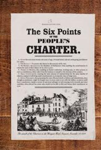 Publication of the People's Charter in Britain