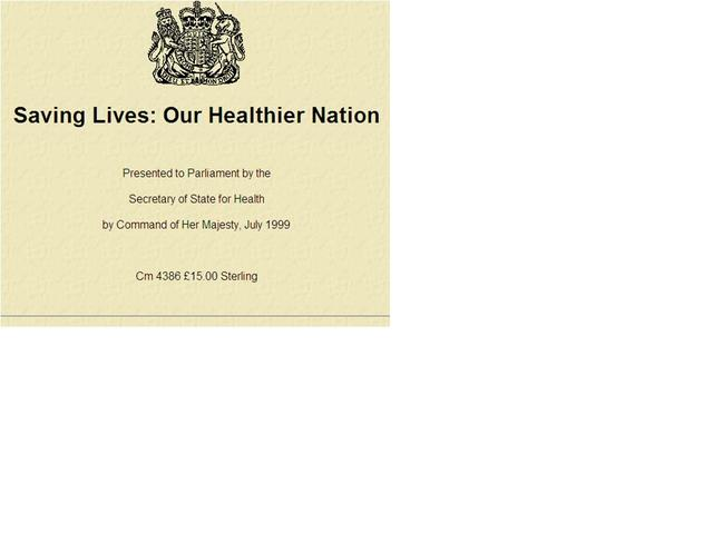 Our healthier nation published.