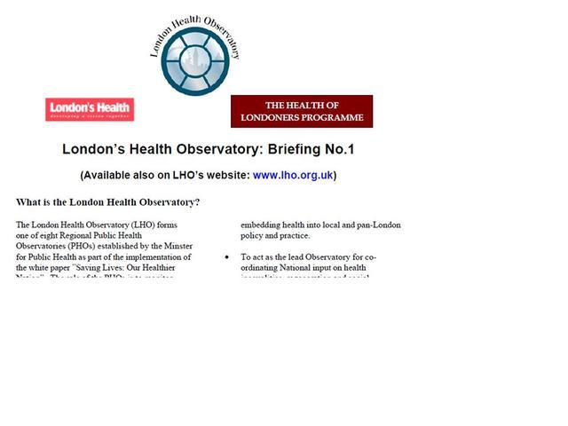 1st LHO newsletter published