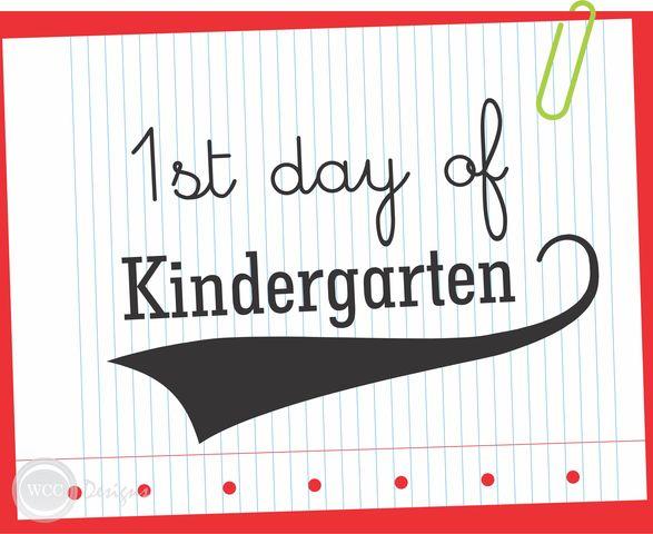 My First day of Kindergarten!