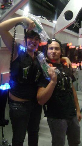 brother and sister at mega zone