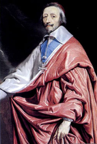 Cardinal Richelieu is appointed minister by Louis XIII