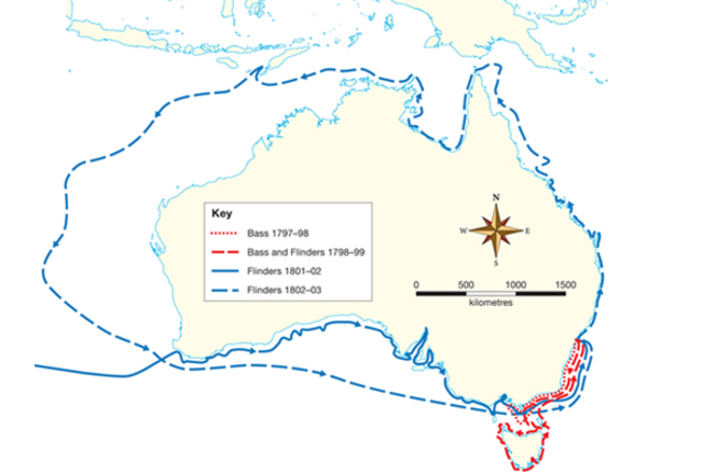 The Voyages of George Bass and Matthew Flinders ocurred