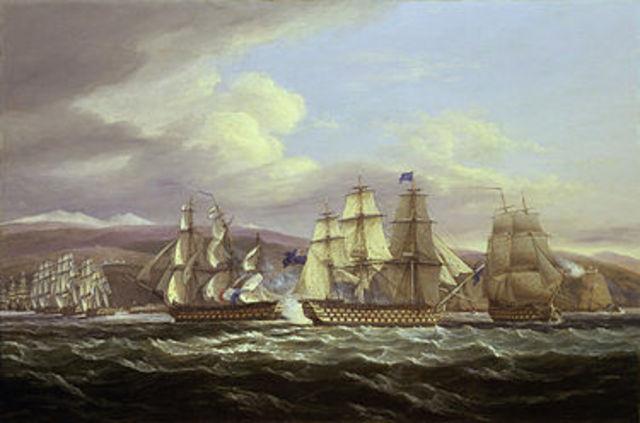 Britain Blockades American Ports