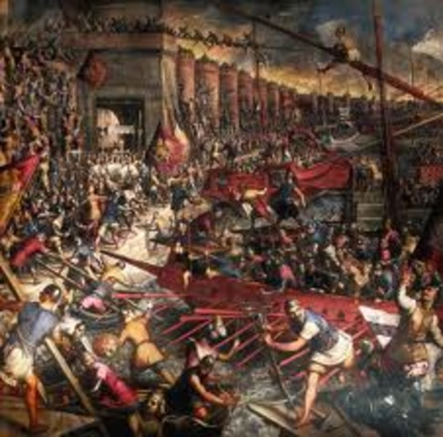 The Crusaders completely took the city.