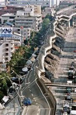7.3 earthquake hit Kobe, Japan