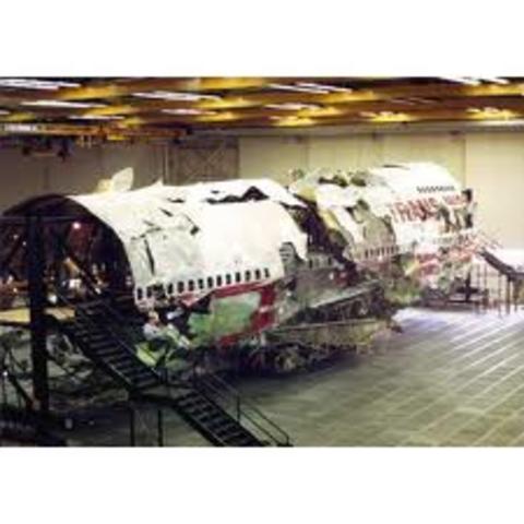 TWA flight 800 explodes of New York coast
