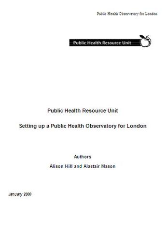 Public health observatory for London in planning