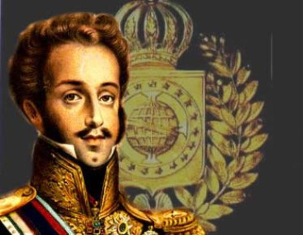 D. Pedro é aclamado imperador do Brasil com o título de D. Pedro I.
