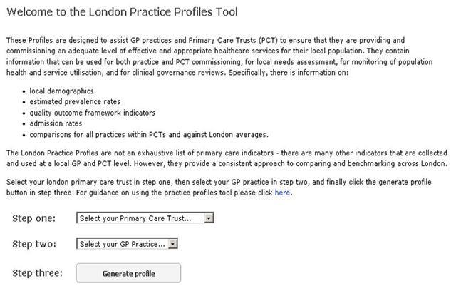 1st London GP practice profiles