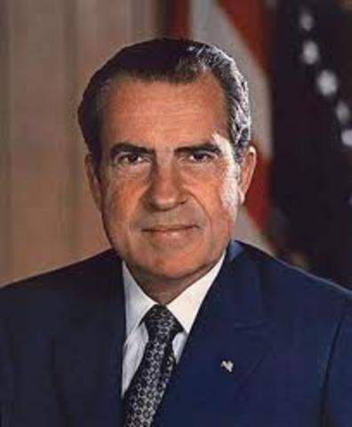 Richard Nixon is inaugurated as President