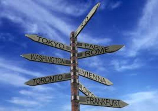 Decido viajar para ver el Mundo.