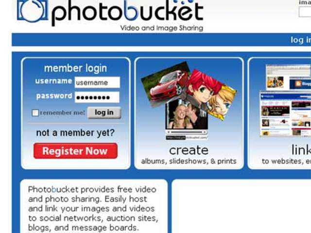 Photo bucket website