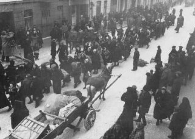 German and Austrian jews deported to ghettos