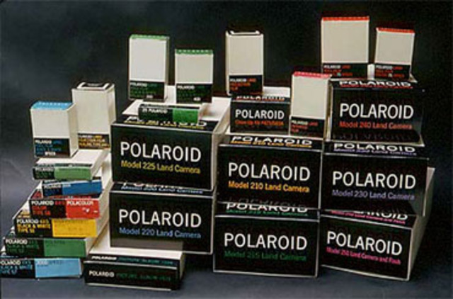 First color instant film by Polaroid