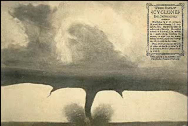 First Photograph of a Tornado