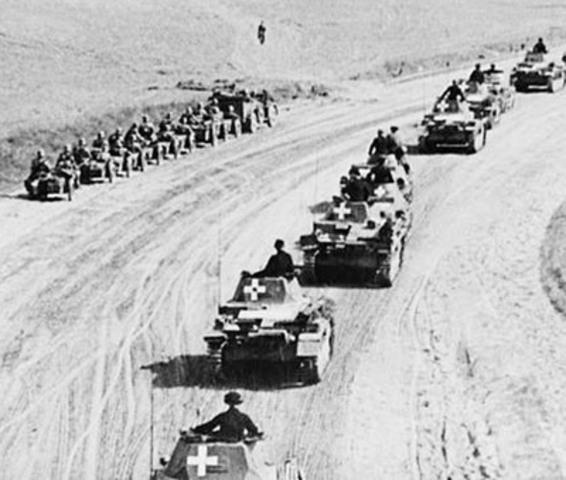 Italiensk offensiv fra Libyen mod den engelske hær i Ægypten - slår fejl