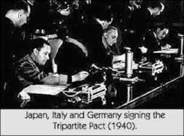 Italien, Japan og Tyskland indgik en 10-årig alliance kaldet tremagtspagten