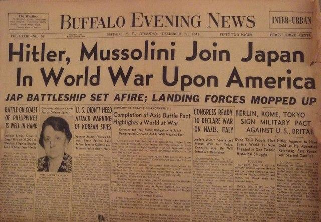 Tyskland og Italien erklærede USA krig