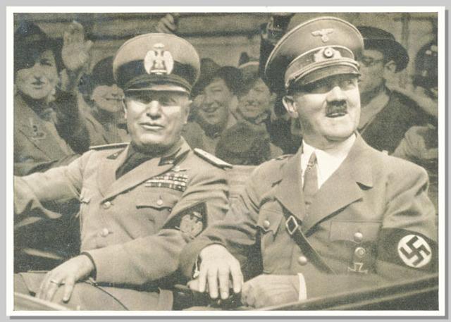 Adolf Hitler mødes med Benito Mussolini i Florence