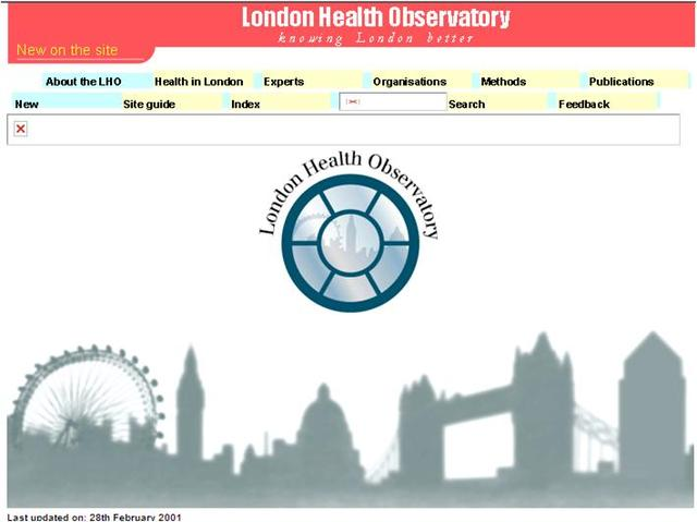 LHO website first launched