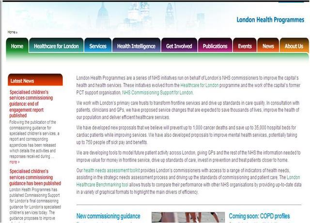 London Health Programmes becomes LHO's host