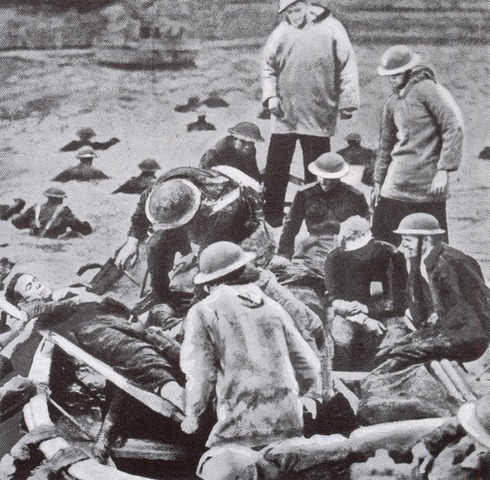 British and French forces at Dunkirk resist German attack.