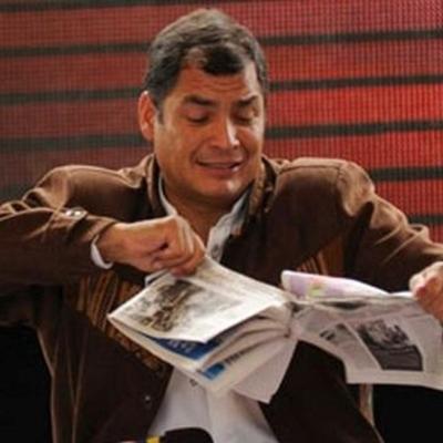 Conflictos entre el gobierno de Rafael Correa y la prensa de Ecuador  timeline